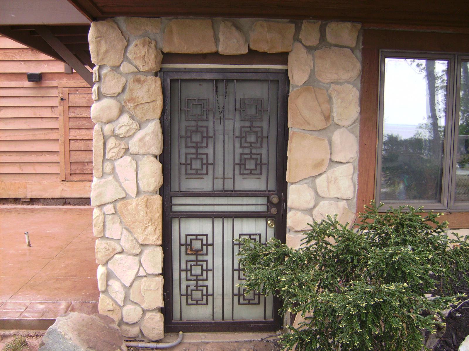 cultured stone work
