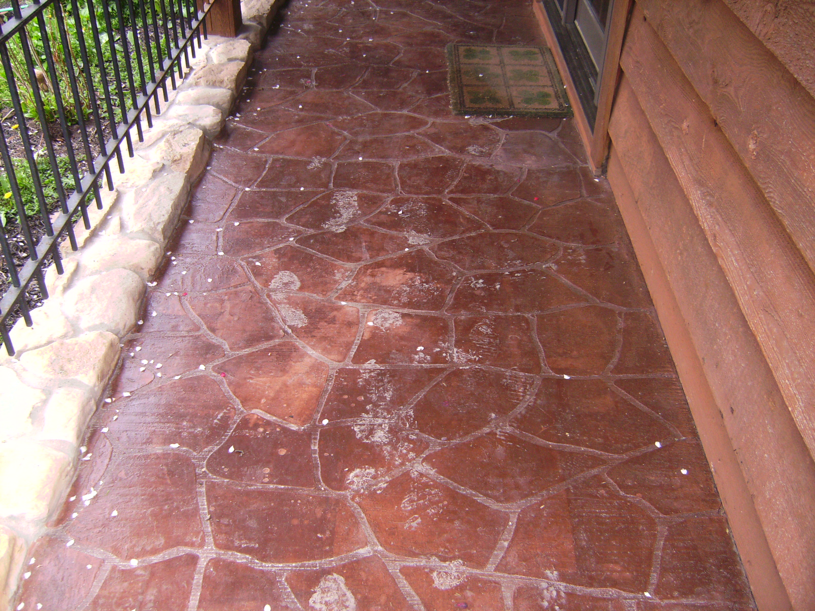 flagstone stenciled walk
