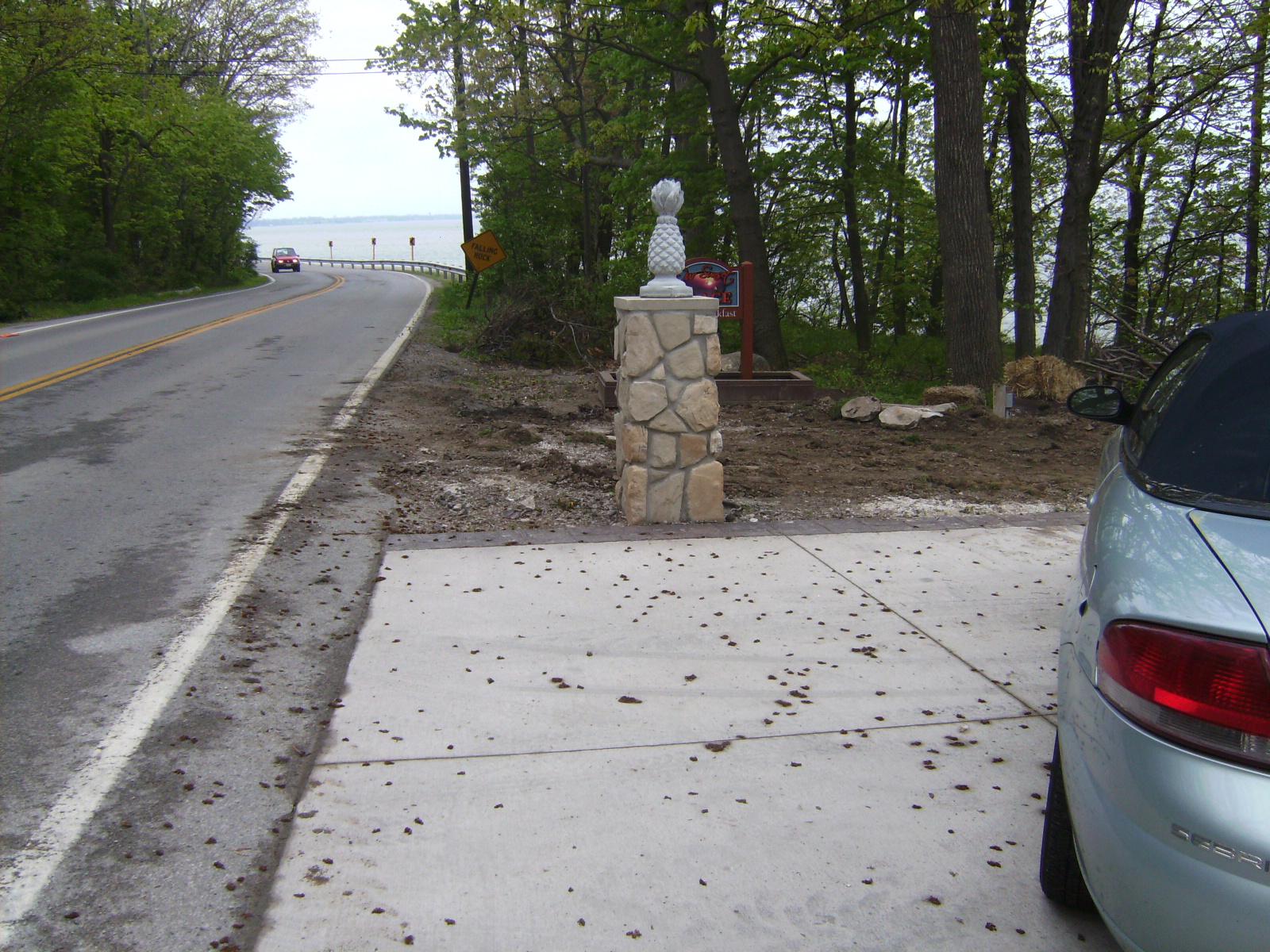 cultured stone pillar
