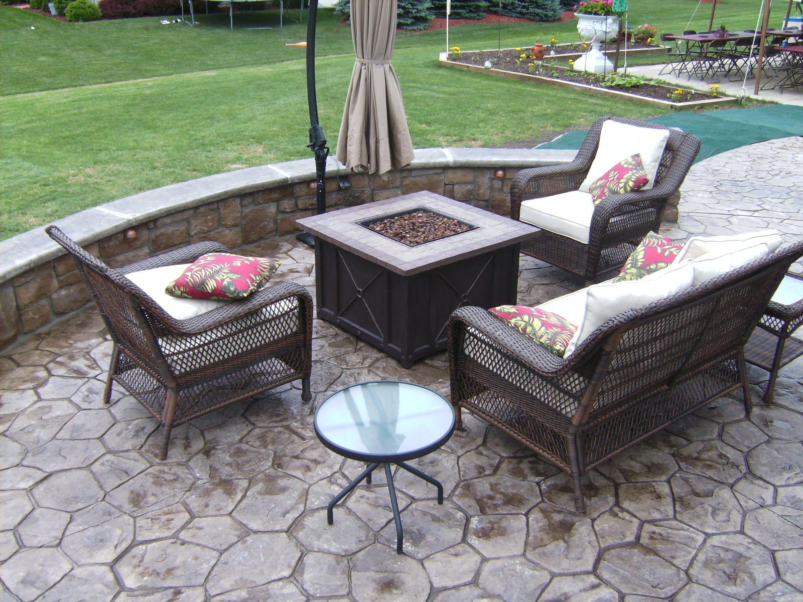 random stone patio