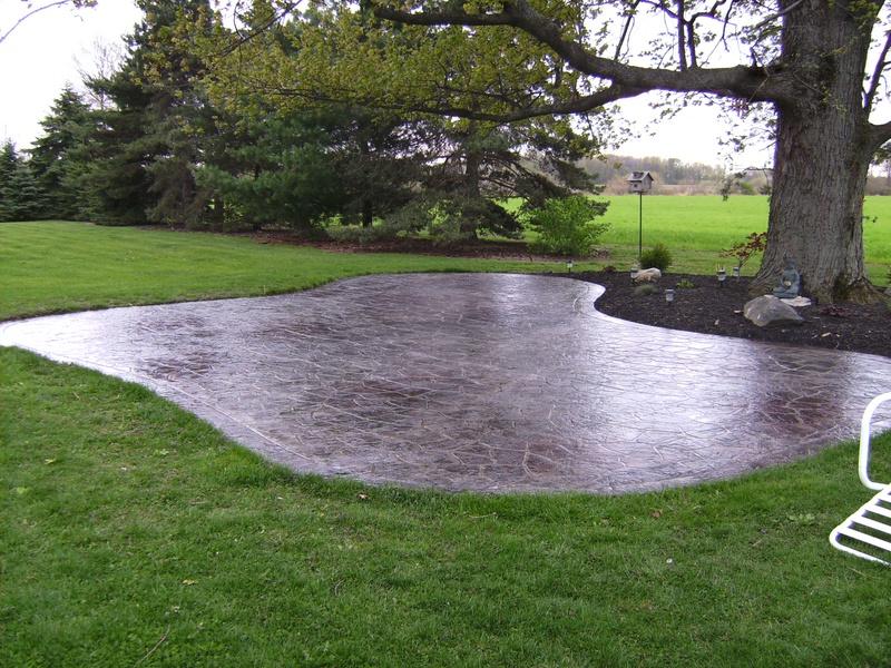 flagstone stencil patio varga custom concrete. Black Bedroom Furniture Sets. Home Design Ideas