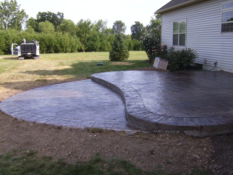 2 level seamless patio