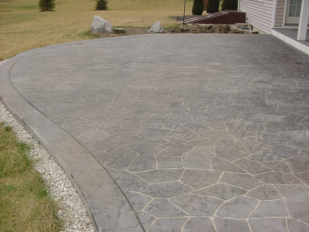 flagstone stenciled patio