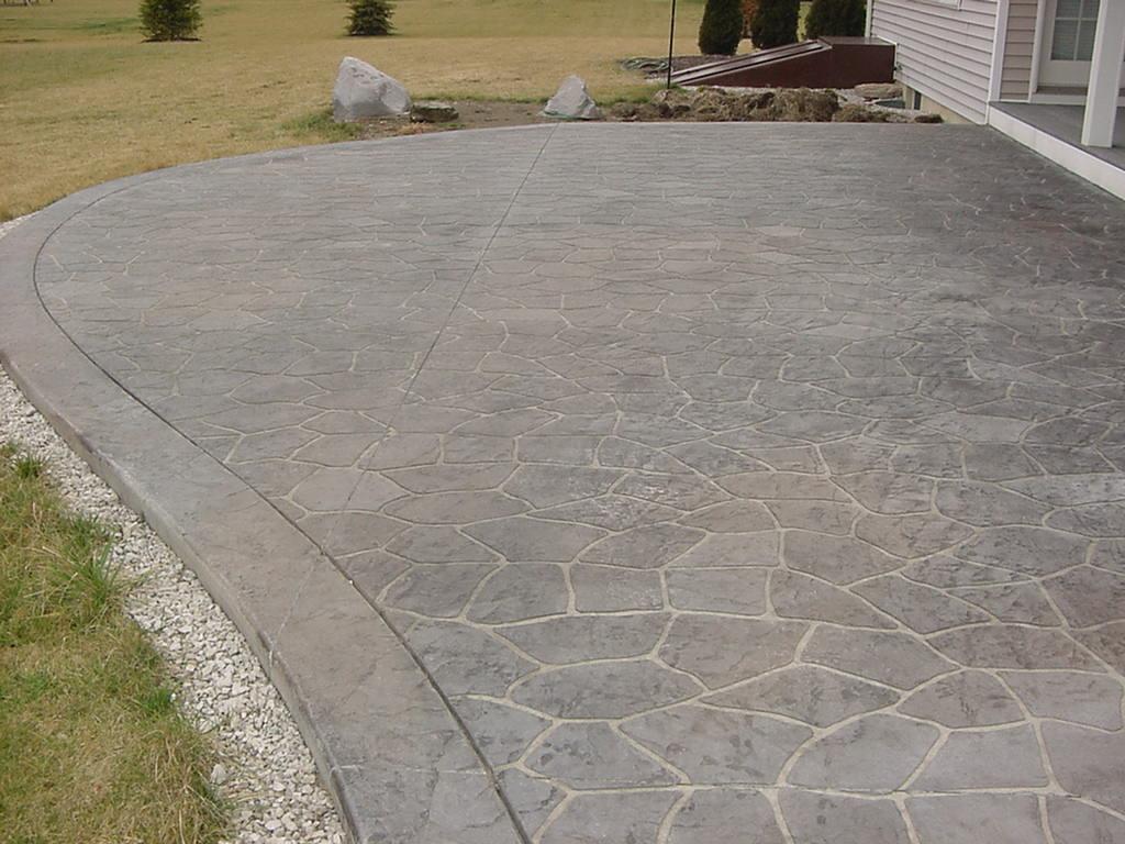 Flagstone Stenciled Patio Varga Custom Concrete